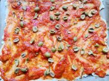 vegetarische glutenfreie Pizza